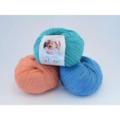 Baby Wool (шерсть 40%, бамбук 20%, акрил 40%) (50гр._175м.)*10 мотков