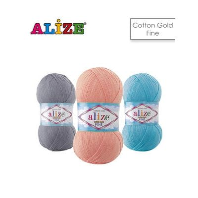 Cotton Gold Fine (55% хлопок, 45% акрил) (100гр. 330м.)*5 мотков
