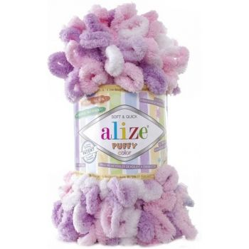 Puffy Color (микрополиэстер 100%) (100гр. 9м.)*5 мотков