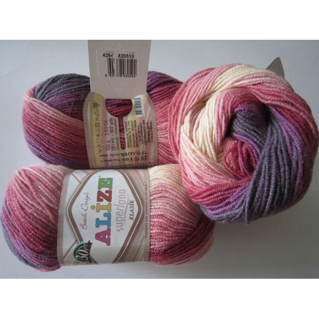 4264 роз/фиолет/ беж