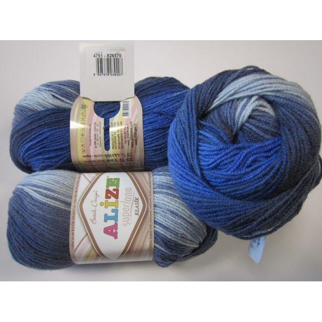 4761 синий, голубой