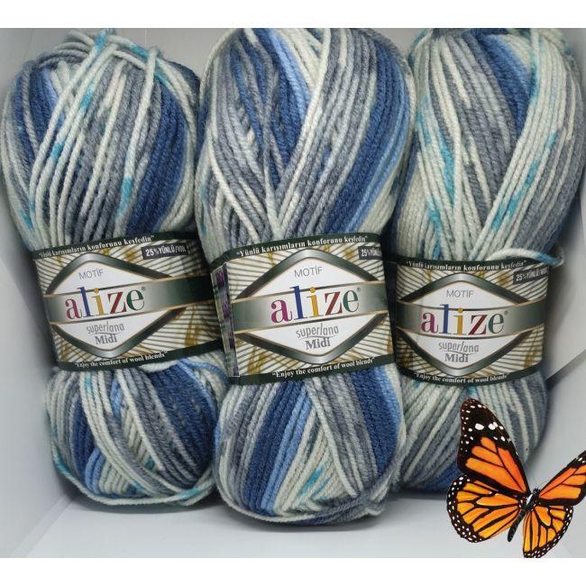 1676 голубой, серый, белый