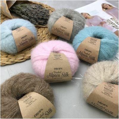 Brushed Alpaca Silk (77%Альпака, 23%Шёлк) (25гр. 140м.)*10 мотков