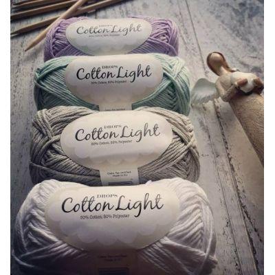 Cotton light (50%Хлопок 50%Полиэстер) (50гр. 105м.)*10 мотков