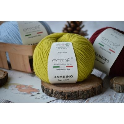 Bambino Lux Wool (60% шерсть мериноса, 40% акрил) (50гр. 160м.)*10 мотков