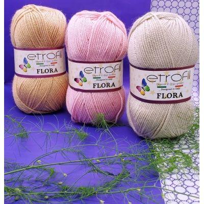 Flora (100% акрил, 100 гр, 230 м.)*5 мотков