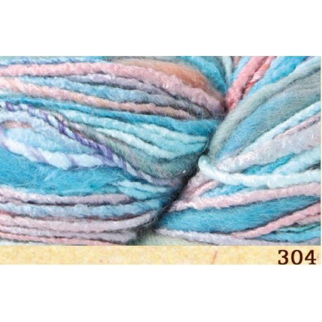 304 бирюзово-розово-голубой