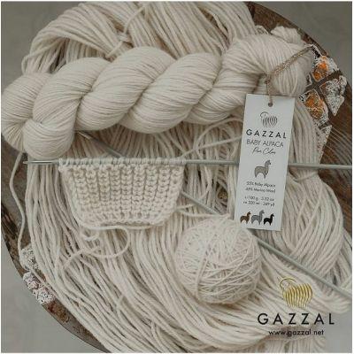 пряжа Gazzal Baby Alpaca pure colors