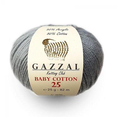 Baby Cotton 25   (хлопок 50%, акрил 50%) (25гр._82 м.)*10 мотков
