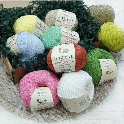 Baby Cotton (хлопок 60%, полиакрил 40%) (50гр._165м.)*10 мотков