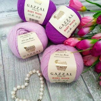 Baby Wool (мериносовая шерсть 40%, кашемир ПА 20%, полиакрил 40%) (50гр._175м.)*10 мотков