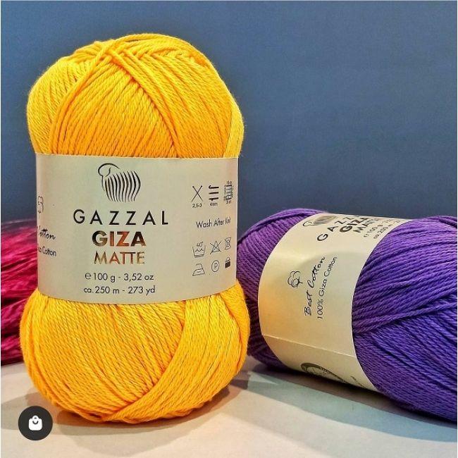 пряжа Gazzal Giza matte