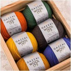 Wool 175 (100% Тонкая шерсть мериноса супервош) (50гр. 175м.)*5 мотков