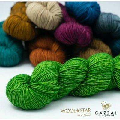 Wool Star (100% Тонкая шерсть мериноса супервош) (100гр. 350 м.)*5 мотков