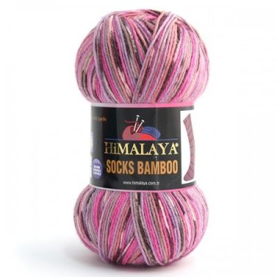 Socks Bamboo (50% мериносовая шерсть superwash, 25% полиамид, 25% бамбук) (100гр. 400м.)*5 мотков