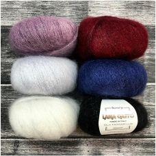 Silk Mohair Lux (78% мохер SuperKid, 14% шелк, 4% полиамид, 4% полиэстер) (25гр. 210м.)*10 мотков