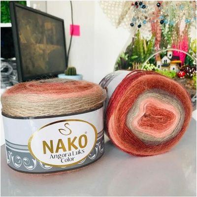 Angora Luks Color (акрил 80%, шерсть 15%, мохер 5%) (150гр. 810м.)*4 мотка