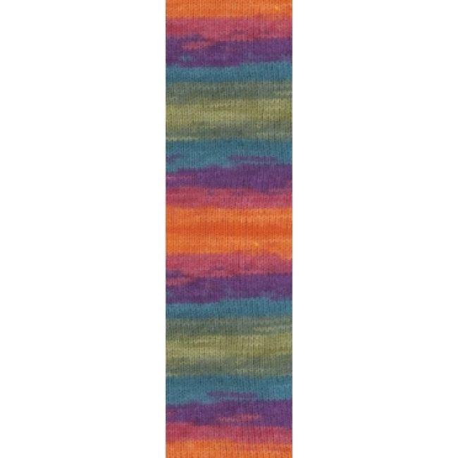 4827 оранжевый/зеленый/фиолетовый