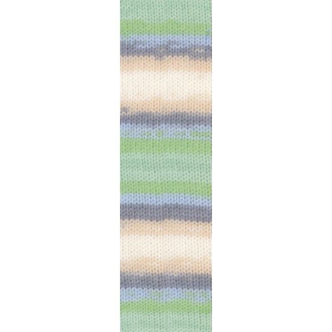 6538 крем/зелёный/голубой