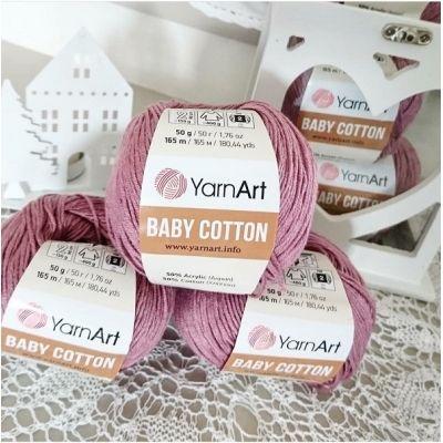 Baby cotton  (50% акрил; 50% хлопок) (50гр._165м.)* 10 мотков