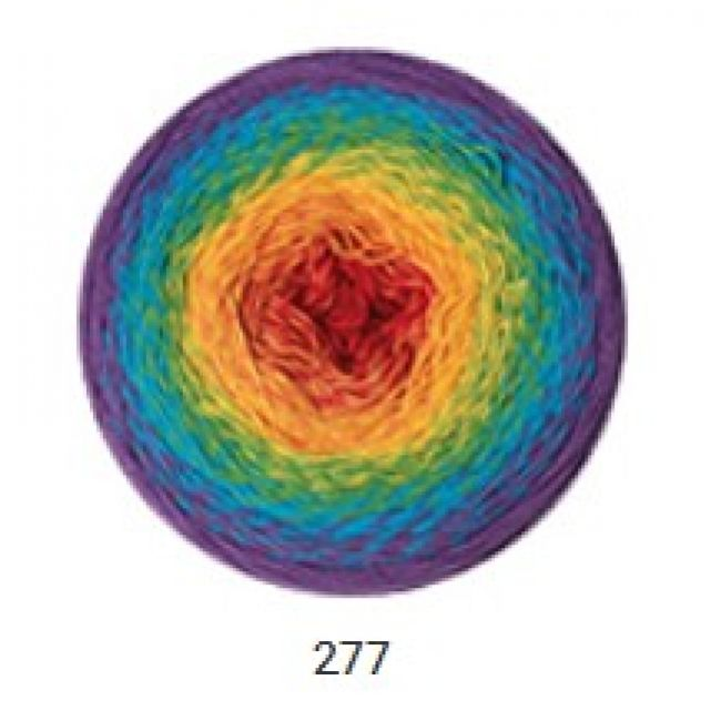 277 фиолет/голуб/оранж/красн.