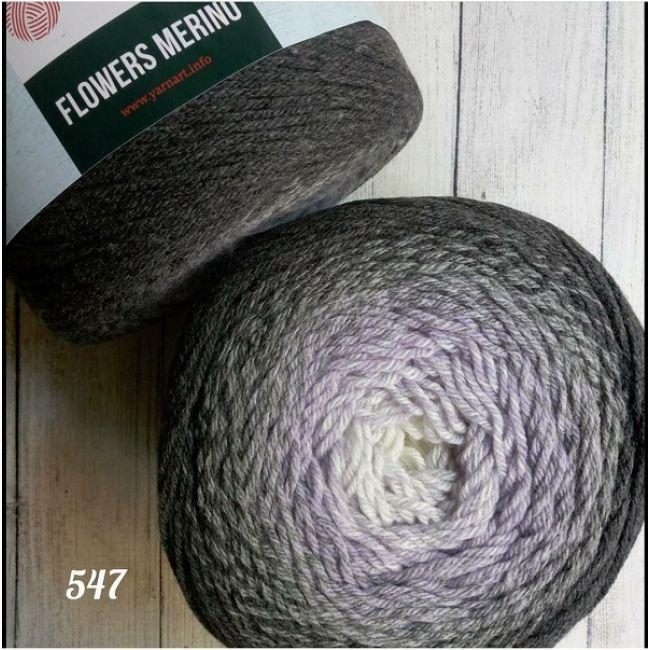 547 серый /св.фиолет.