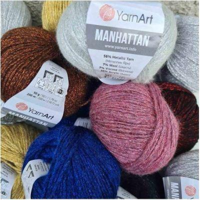 Manhattan (7% шерсть, 7% вискоза, 30% акрил, 56% металлик) (50гр. 200м.)*10 мотков